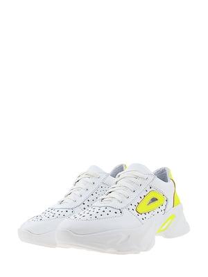 Кроссовки бело-лимонного цвета | 5436352