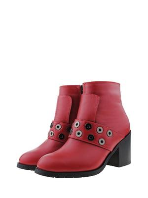 Ботинки красного цвета   5436380