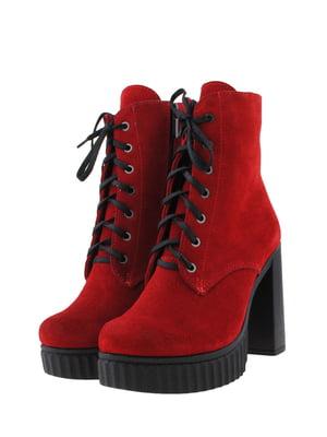 Ботинки красного цвета   5436382
