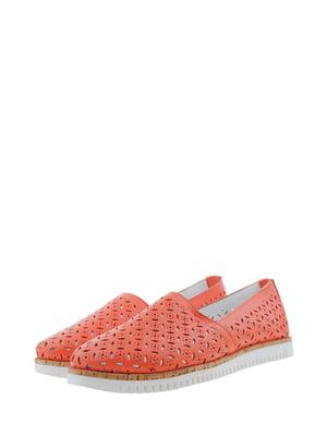Мокасини коралового кольору | 5436428