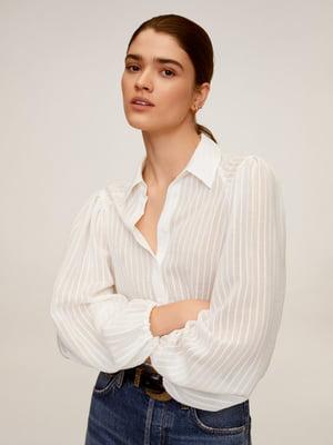 Рубашка белая в полоску | 5435431