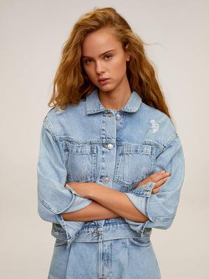 Жакет голубой джинсовый | 5435471