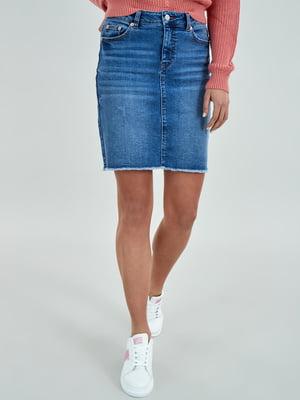 Юбка джинсовая синяя | 5436619