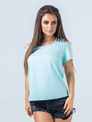 Блуза цвета ментола   5436693