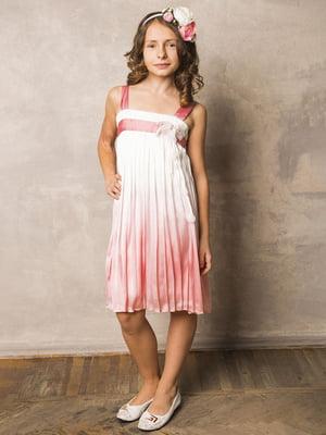 Платье бело-розовое | 5438067