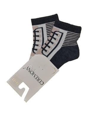 Носки коричневые с принтом | 5438845