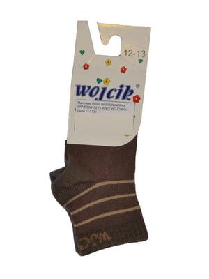Носки коричневые с принтом   5438857