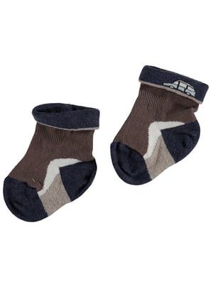 Носки коричневые с принтом   5438862