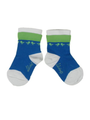 Носки синие с принтом | 5438866
