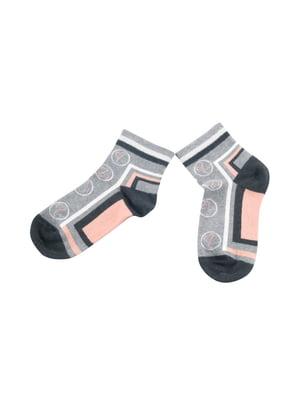 Носки серые с принтом | 5439204