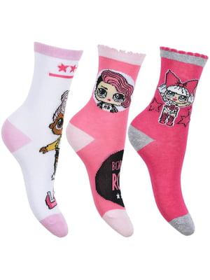 Носки розовые с принтом | 5439251
