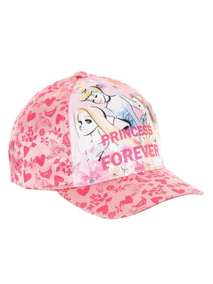 Кепка розовая с принтом | 5439368