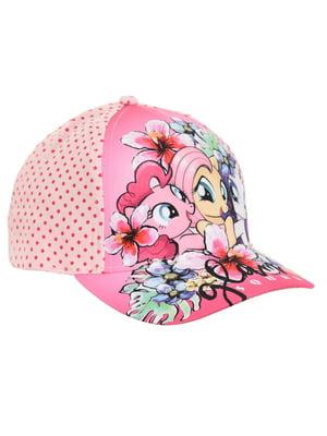 Кепка розовая с принтом | 5439379