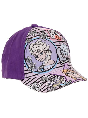 Кепка фиолетовая с принтом | 5439396