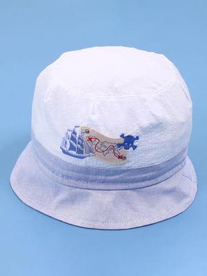 Панамка бело-голубая | 5439436