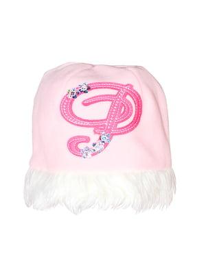 Шапка бело-розовая | 5439511