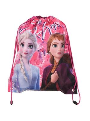 Рюкзак розовый в принт | 5439103