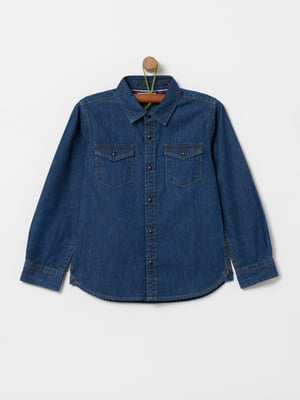 Рубашка синяя   5435620