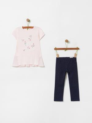 Костюм спортивный: футболка и брюки | 5436153