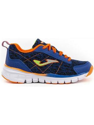 Кросівки синьо-помаранчеві   5441124
