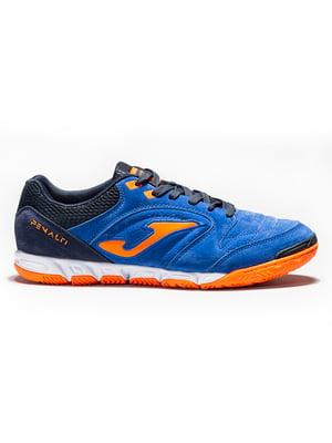 Кроссовки сине-оранжевые | 5441146