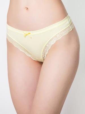 Труси-стрінги жовті | 5440558
