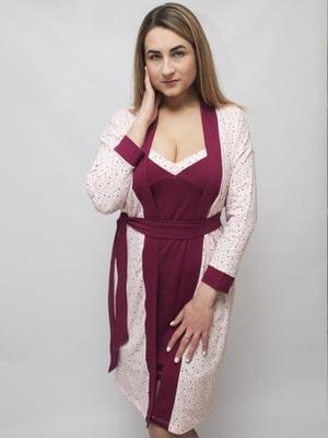 Комплект: сорочка і халат | 5441261