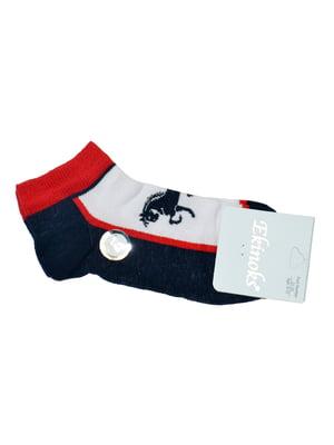 Шкарпетки чорні з принтом | 5441634