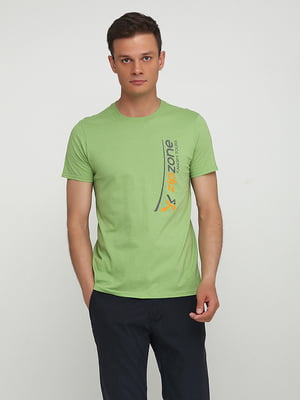 Футболка зелена з принтом | 5443771