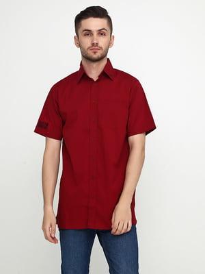 Рубашка бордовая   5443812