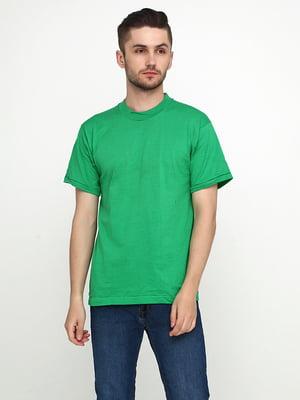 Футболка зелена з принтом   5443862
