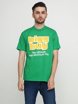 Футболка зелена з принтом   5443867