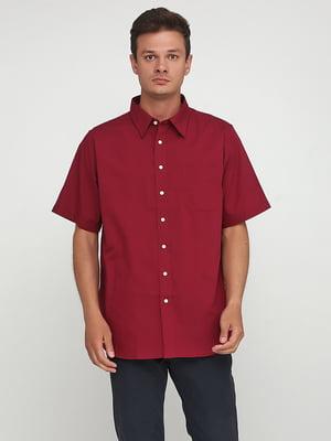 Рубашка бордовая   5443871