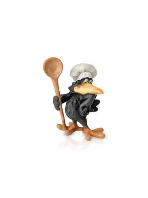 Фігурка декоративна «Ворон кухар» (9х12 см) | 5443337