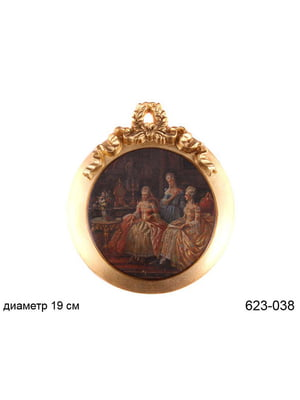 Панно овальне «Медальйон» (19 см) | 5443407
