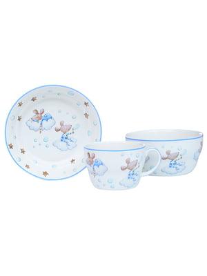 Набір дитячий столовий «Хлопчик мишка» (3 предмета) | 5443554