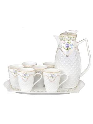 Чайний набір на підносі «Емілі» (8 предметів) | 5443603