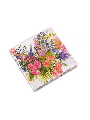Набір серветок «Букет квітів» (20 шт., 32x32 см) | 5443682