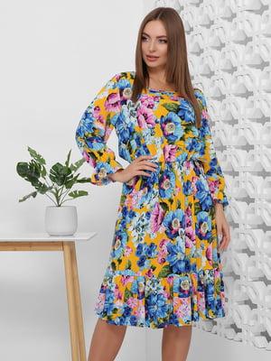 Платье разноцветное в цветочный принт | 5444100