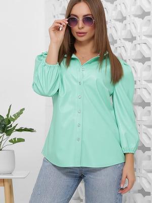 Рубашка мятного цвета | 5444131