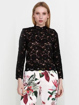 Блуза чорна мереживна | 5441545