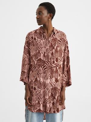 Сукня-сорочка в принт | 5442104