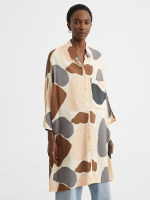 Сукня-сорочка в принт | 5442110