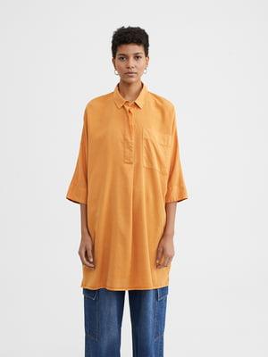Платье-рубашка оранжевое | 5442332