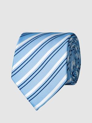 Краватка блакитна в смужку | 5444486