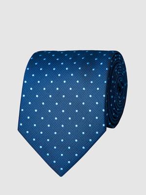 Краватка синя в цяточку | 5444489