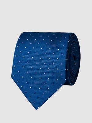 Краватка синя в горох | 5444497