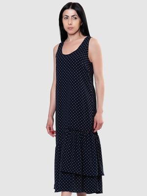 Сукня синя в горох | 5444558