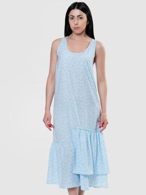 Сукня блакитна в горох | 5444560