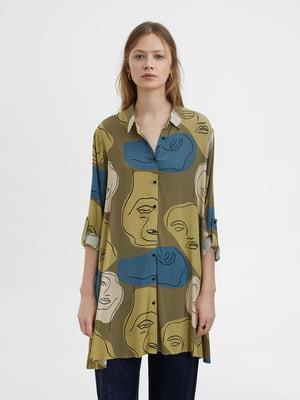 Платье-рубашка в принт | 5442432